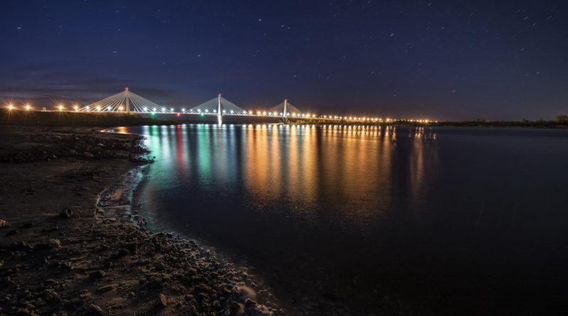 мост, река Ока, вантовый мост, Ока, Муром, рыболовства, самый красивый мост, Нижний Новгород