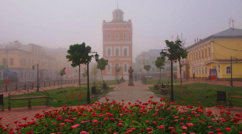 сквер, Ермаков, сквер Ермакова, Муром, водонапорная башня, башня Ермакова
